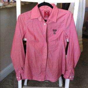 Texas Tech Antigua button down shirt